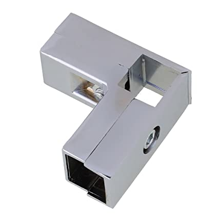 Aluminum Alloy 3 Way L Shape Square Tube Clamp Tube Connector Pipe Fittings