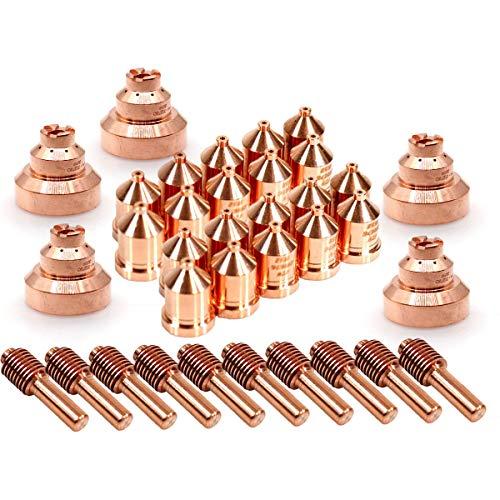ICE-60T/TM Plasma Torch Electrode Tip 212724 219676 Drag Shield 212730 for Miller Spectrum 875 Cutter 35pcs ()