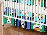 SheetWorld - Crib Skirt (28 x 52) - Doggy Pose - Made In USA