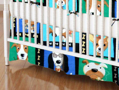 SheetWorld - Crib Skirt (28 x 52) - Doggy Pose - Made In USA by sheetworld