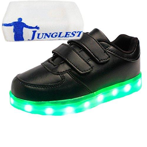 [Present:kleines Handtuch]JUNGLEST® [Led Schuhe] Unisex Männer Frauen USB-Lade 7 Farbwechsel LED beleuchteter Licht Paar beiläufige Spo c9
