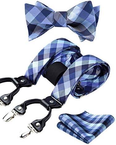 HISDERN Suspenders Pocket Square Adjustable product image