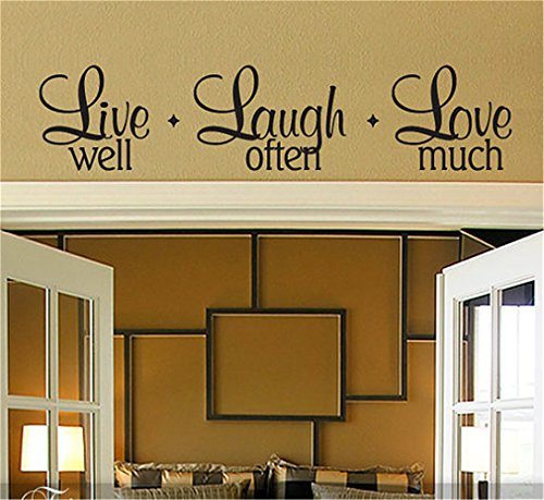 gtrsa Live Laugh Love Wall Decal Live Well Laugh Often Love Much,DIY Home Decor, Inspirational Quote Inspirational Wall Decal Church Wall Decal, Daycare Wall Decal, Bible, Hymn]()
