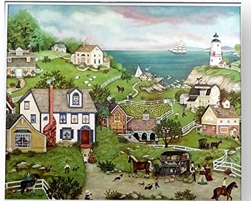 Ceaco Linda Stock Nelson Peddler's Cove Jigsaw Puzzle with Poster Tower Box 550 ()