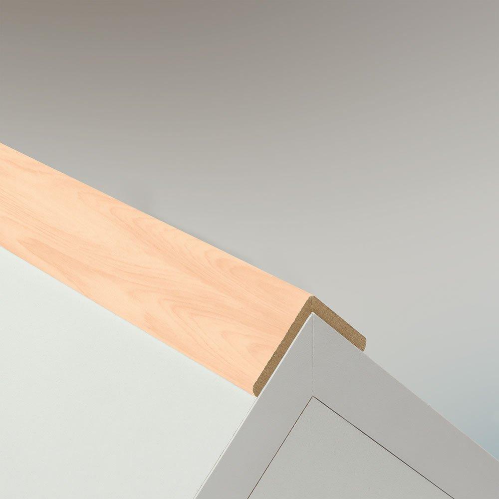 Winkelleiste Schutzwinkel Winkelprofil Tapeten-Eckleiste Abschlussleiste Abdeckleiste aus MDF in Wei/ß 2600 x 42 x 22 mm