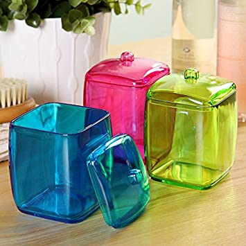 Colorful Cotton Swab Box Q Tip Storage Holder Cosmetic Makeup Tool Women  Storage Box