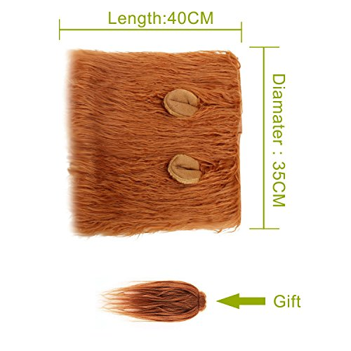 RWM Dog Lion Mane Costume - Pet Wig Clothes for Halloween Party - Lion Wig for Medium to Large Sized - http://coolthings.us