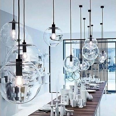 FidgetGear E27 Vintage LED Pendant Light Ceiling Lamp Transparent Glass Chandelier by FidgetGear (Image #5)