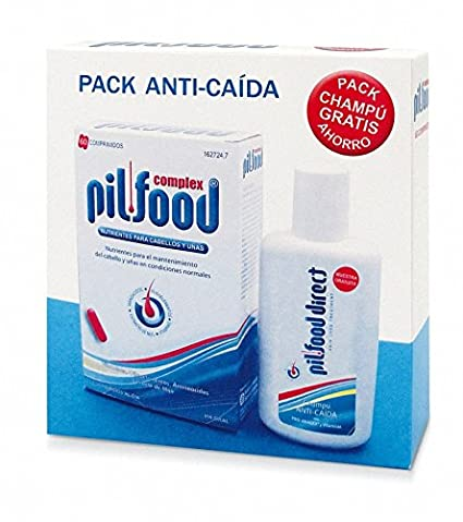 PILFOOD COMPLEX 60 COMPRIMIDOS + PILFOOD DIRECT CHAMPÚ 200 ml +