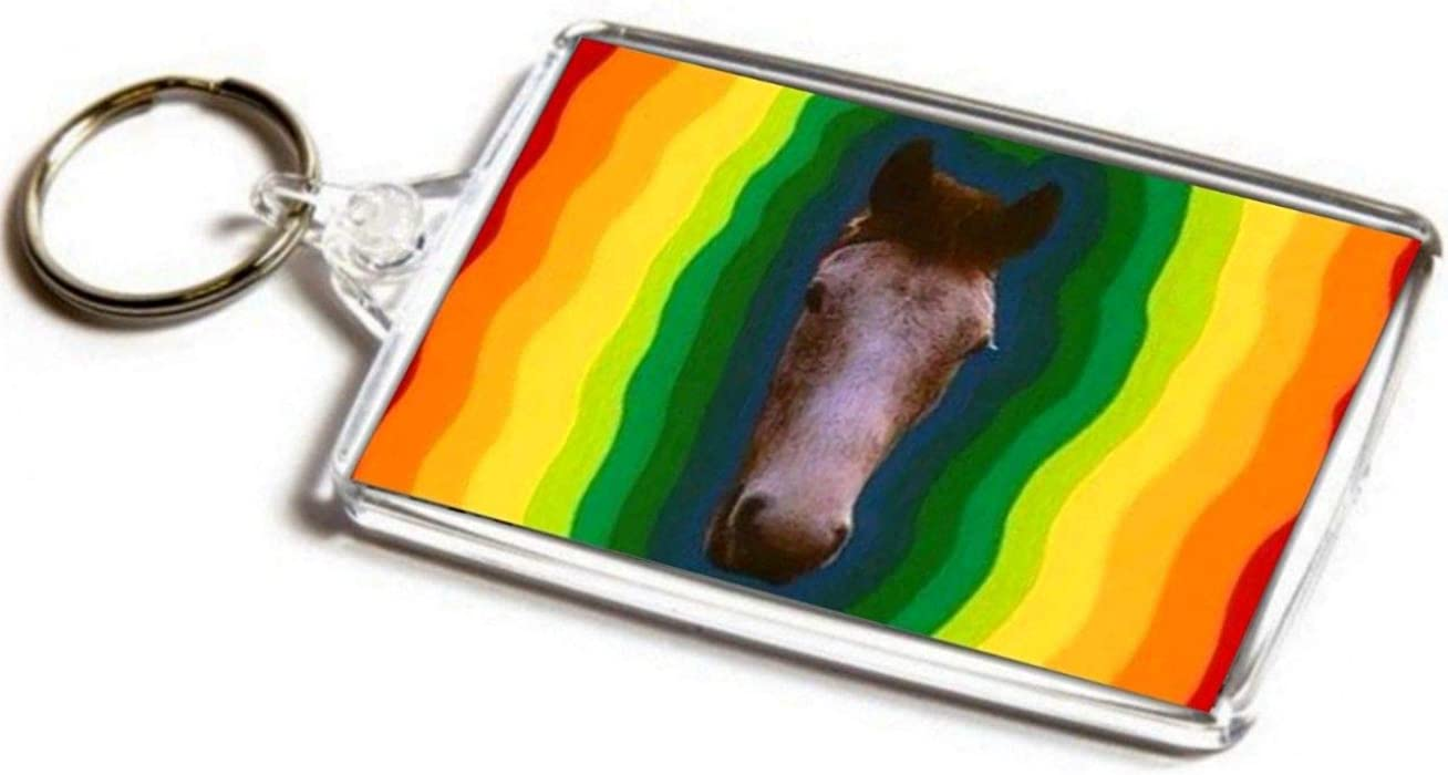 My Lovely Horse Jumbo Keyring Psychedelic Art Inspired by Father Ted