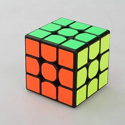 Aspire Phoenix QiYi Warrior [W] 3x3 Sail Black Stickerless Rubiks Cube Speed Cube Magic Cube - Super Smooth Cube |Magic Cube Puzzles Cube for Kids.