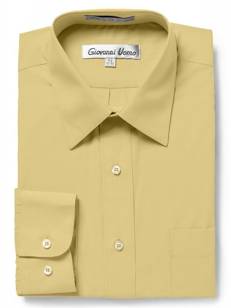 Giovanni UomoメンズTraditional Fitソリッドカラードレスシャツ B0128NC8AQ 14.5
