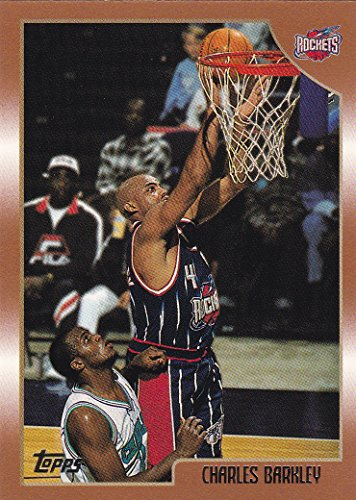 1998-99 Topps Basketball Houston Rockets Team Set with Charles Barkley & Hakeem Olajuwon - 8 Cards