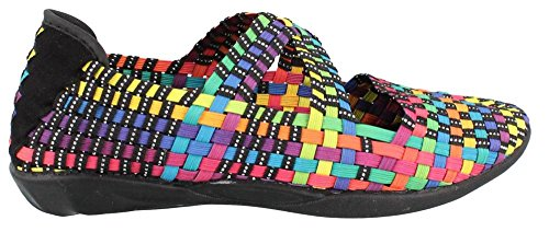 Bernie Mev Womens Champion Slip-on Casual Scarpa Nera Multi