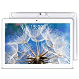 [2019 Upgrade] YUNTAB 10.1 inch Android Tablet Smartphone, Unlocked 3G Supported, with Dual SIM Card Slots, 2GB+16GB, Quad Core CPU, IPS Touch Screen(White)