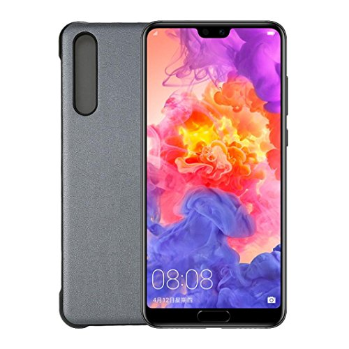 (MChoice for Huawei P20Pro Smart Windows Phone Case PU+PC Texture Litchi Pattern (Gray) )