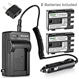 Kastar NB-2L Battery (2-Pack) and Charger Kit for Canon NB-2L NB-2LH NB-2L12 NB-2L14 NB-2L24 BP-2L5 BP-2LH and Canon EOS Digital Rebel XT Xti Cameras