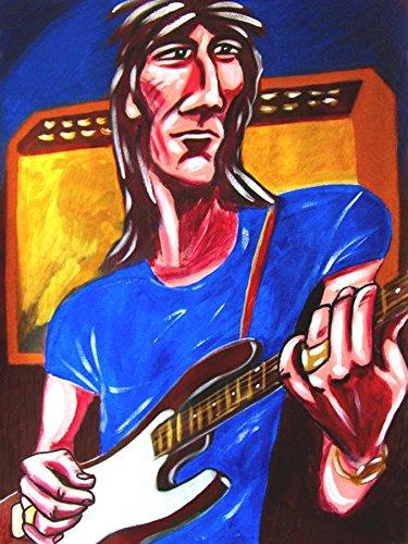 RON WOOD PRINT POSTER guitar cd lp record album vinyl rolling stones fender stratocaster faces some girls amp -