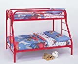 Coaster Twin/Full Bunk Bed, Red