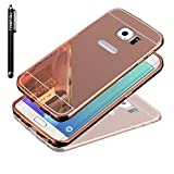 S6 Edge Plus Case, Galaxy S6 Edge Plus Case, TabPow [Electroplating Series] Luxury Slim Hard Back Case Cover Bumper [Mirror Case] For Samsung Galaxy S6 Edge+ Plus, Rose Gold