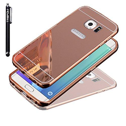 S6 Edge Plus Case, Galaxy S6 Edge Plus Case, TabPow [Electroplating Series] Luxury Slim Hard Back Case Cover Bumper [Mirror Case] For Samsung Galaxy S6 Edge+ Plus, Rose Gold