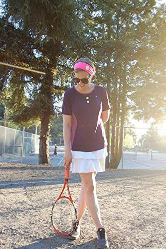 ELEGANT YOU Complete Tennis Outfit - 3 Piece Set - Top, Ruffle Skort, Headband