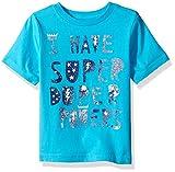 Kyпить The Children's Place Toddler Boys' Fun Message Graphic T-Shirt, Blue Atoll, 5T на Amazon.com