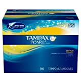 Tampax Pearl Unscented Tampons, Regular (96 ct.) (pack of 6)
