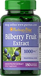 Puritans Pride Bilberry 1000 Mg Softgels...