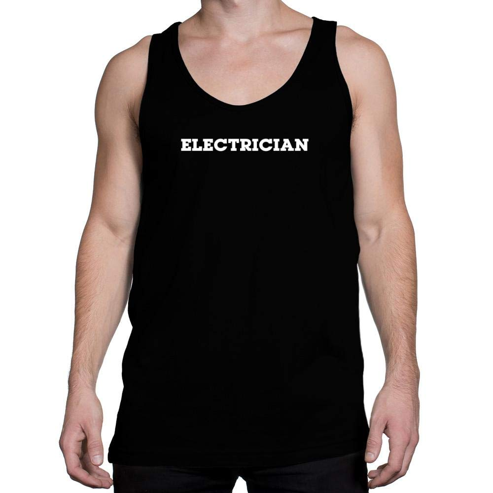 Idakoos Electrician Retro Font Tank Top