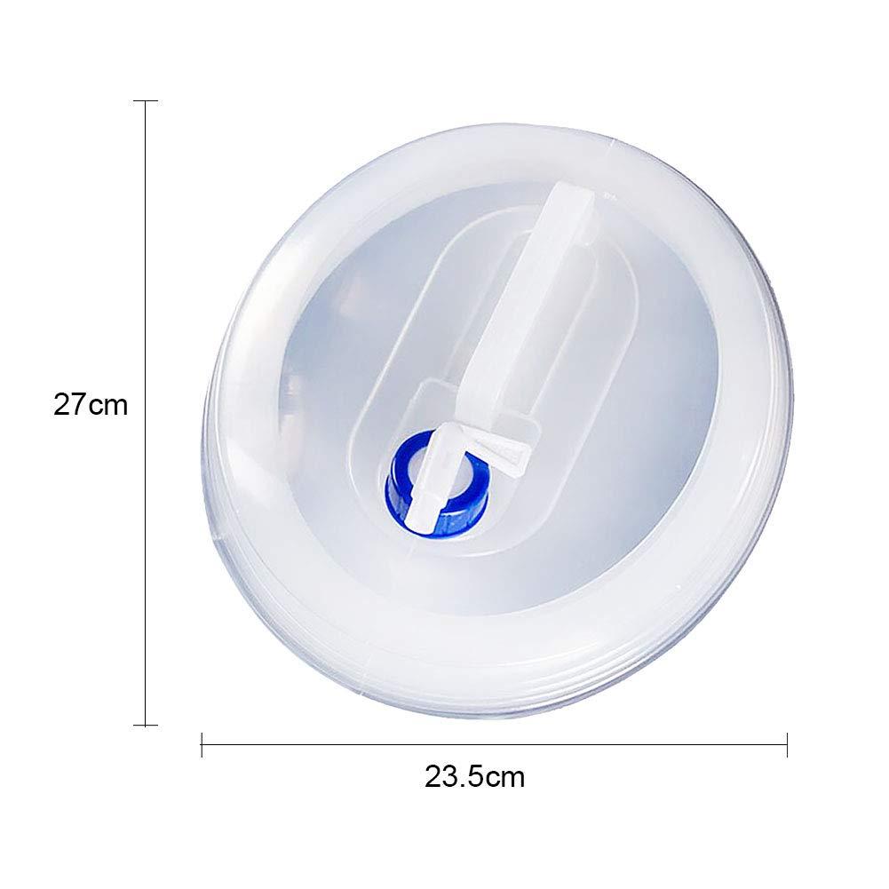 5L5L LYXMY Eimer tragbare leichte transparente Outdoor-Zubeh/ör Wasserbeh/älter zusammenklappbar mit Wasserhahn Wandern Camping