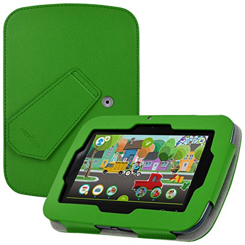 LeapFrog Epic Case - HOTCOOL New PU Leather With Kickstand Cover Case For LeapFrog Epic 7 Android-based Kids & LeapFrog Epic Academy Edition Tablet, Green