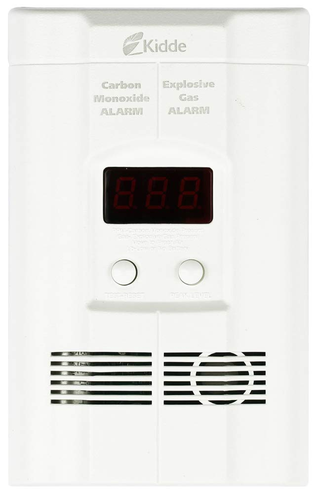 Kidde KN-COEG-3 Plug-in Combination Explosive Gas/Carbon Monoxide Alarm Detector with Battery Back-Up