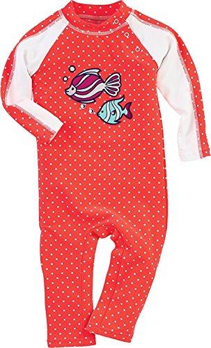 Coolibar UPF 50+ Baby Splashy Romper - UV Swimwear (6 Months - Tropical Fish)