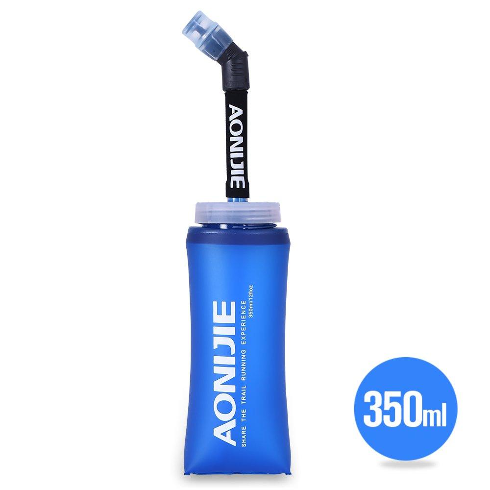 Botella blanda comprimible Docooler con pajita, sin BPA, para corredores, 350ML(1PCS), 350 ml: Amazon.es: Deportes y aire libre
