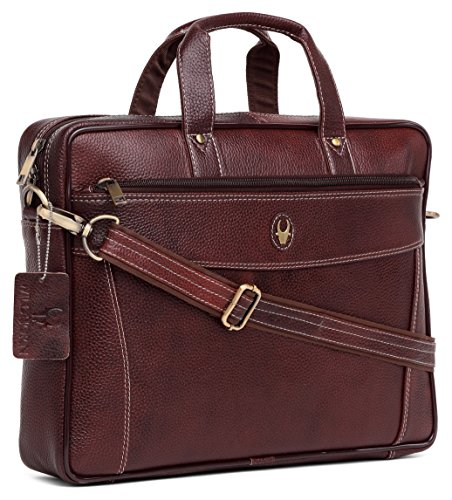 WildHorn Leather 40.64 cms Brown Messenger Bag (MB545 B.Brown)