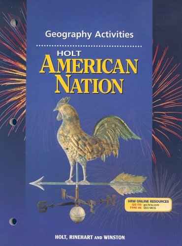 Read Online Holt American Nation: Geography Activities  Grades 9-12 ebook