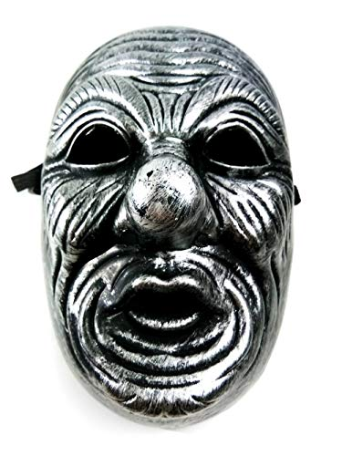 Prettyshop4246 Feeling Japanese Collection with Tengu Face Old Man Very Popular Idea for Collection Art Put on Your Wall Face as a Costume Cosplay Party Surprise Gift Halloween Mask Black ()