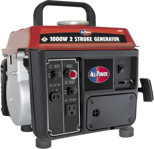 All Power America APG3004, 800 Running Watts/1000 Starting Watts, Gas Powered Portable Generator