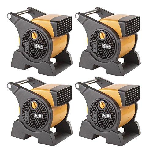 - Lasko Pro Performance 3 Speed High Velocity Durable Utility Blower Fan (4 Pack)