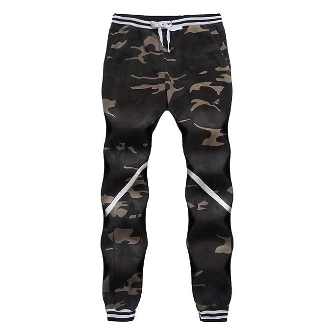 Männer Herren Comouflage Hose Gürtel Classic Camo Jogger Hosen Lang  Frühling Fitness Loose Crotch Hose Hiphop b754a4e1cd