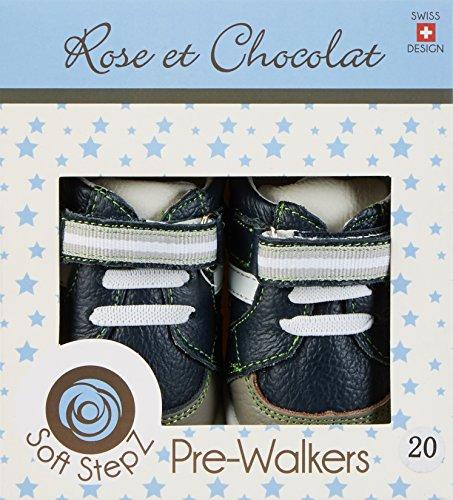 Rose & Chocolat Star Trainer - Botas de senderismo Bebé-Niñas azul (navy)