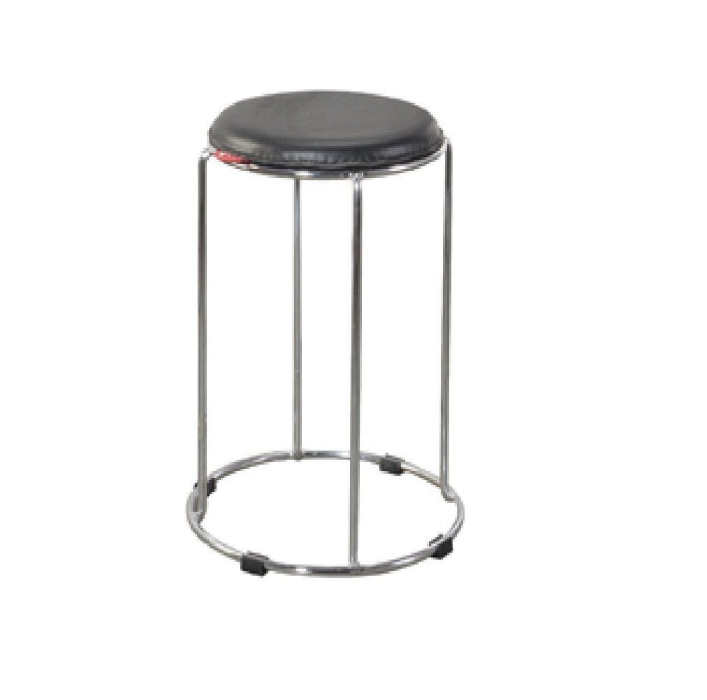 Pooja steel furniture Round stool chair (black): Amazon.in: Home