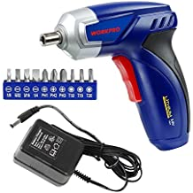WORKPRO 3.6V Power Cordless Screwdriver Set Lithium-Ion Rechargeable Screw Gun with Charger and Bit Set