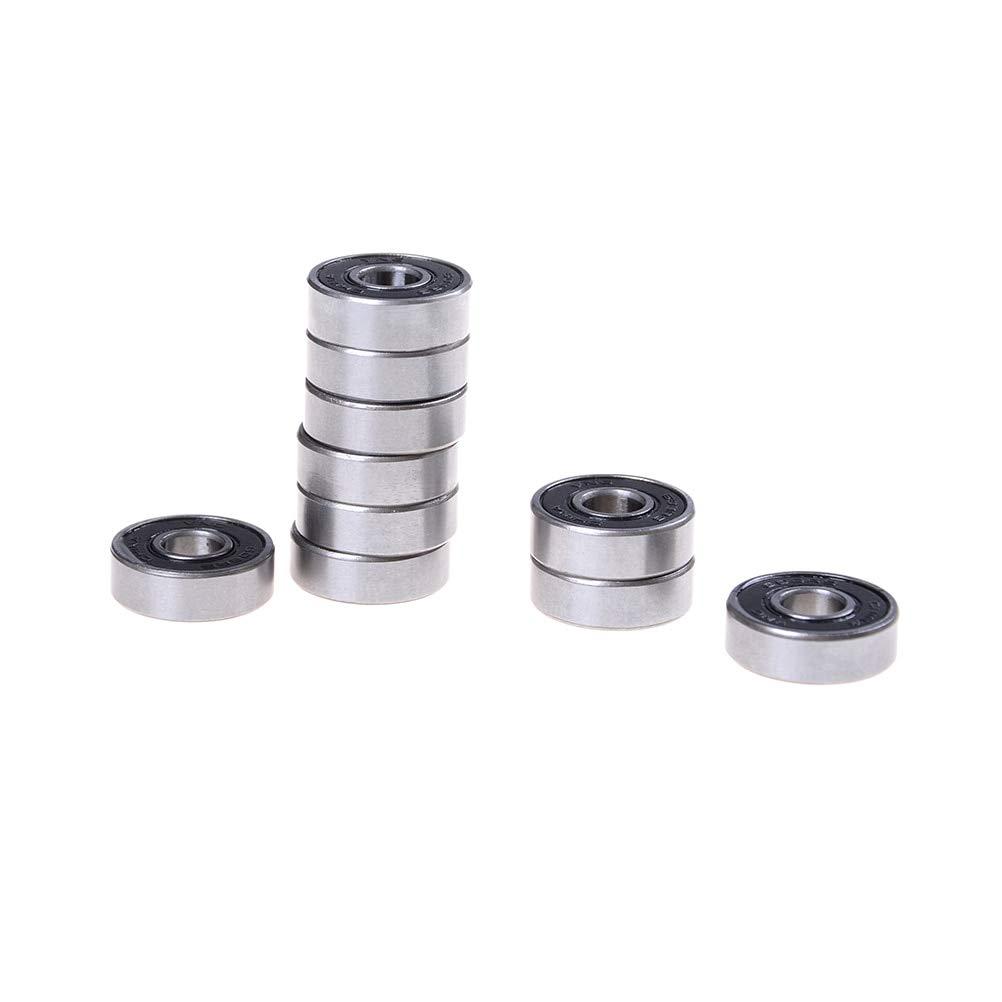 Ochoos 10pcs//lot 608 2RS Bearing 8x22x7 MM Skateboard Ball Bearings 608-2RS Bearing Shafts Wholesale Low Price