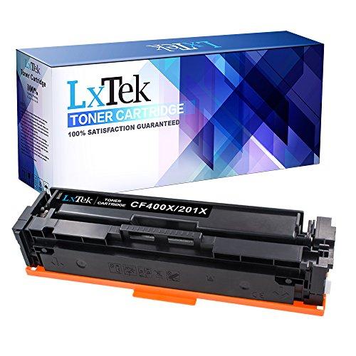 LxTeK 201X Compatible CF400X CF400A High Yield Toner Cartridge for Color LaserJet Pro MFP M277dw, LaserJet Pro M252dw, LaserJet Pro MFP M277n, M252n, Black