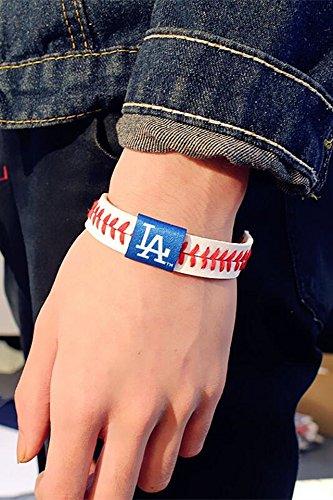 Generic Europe and America tide brand leather bracelet rope bracelet temperament minimalist fashion no good women girls lady couple models sport baseball men's bracelet