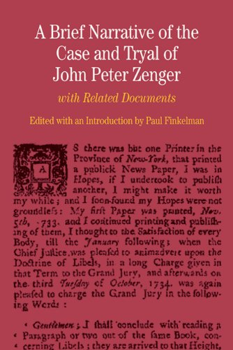 A Brief Narrative of the Case and Tryal of John Peter...