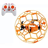 Haktoys HAK901 Mini Drone in a Ball Shape Cage 2.4GHz 4 CH 3D Flip LED RC Quadcopter with 6 Axis Gyroscope