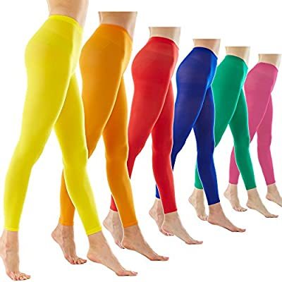 Women's 80Denier Semi Opaque Solid Color Footless Pantyhose Tights 2pair or 6pair